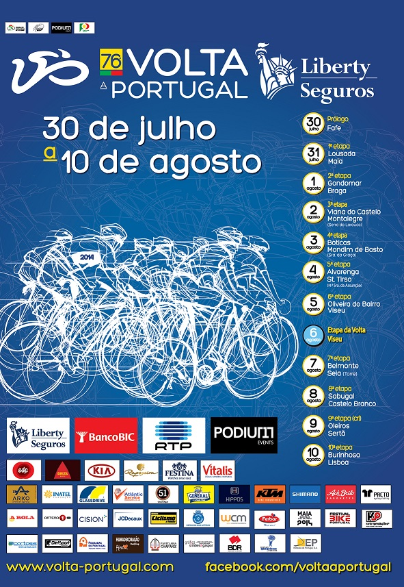 volta a portugal em bicicleta 2013 percurso mapa 76ª Volta a Portugal Liberty Seguros | Ciclismo   Classificações.net volta a portugal em bicicleta 2013 percurso mapa