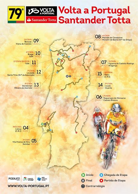 mapa volta a portugal 79ª Volta a Portugal Santander Totta | Ciclismo   Classificações.net mapa volta a portugal